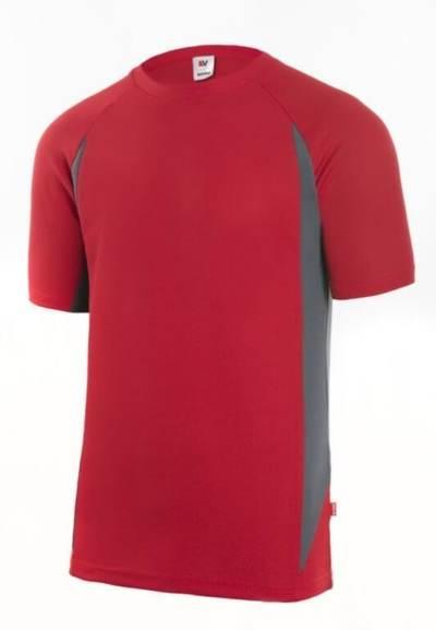 Camiseta técnica Velilla rojo/gris