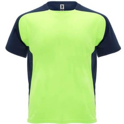 6399- Camiseta técnica Bugatti Roly verde flúor-marino