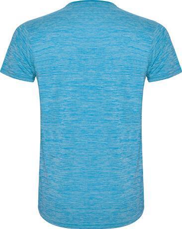 6653 Camiseta técnica Zolder hombre turquesa espalda