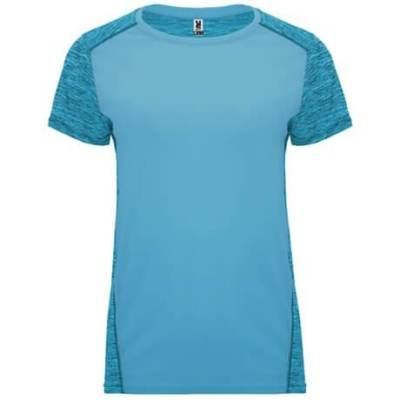 Camiseta técnica Zolder mujer turquesa-turquesa