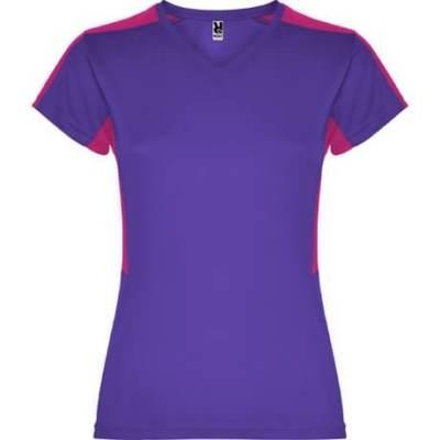 Camiseta técnica Suzuka para chica Roly morado-rosetón