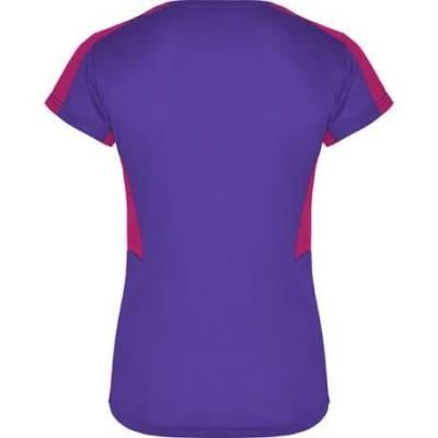 Camiseta técnica Suzuka para chica Roly morado-rosetón espalda
