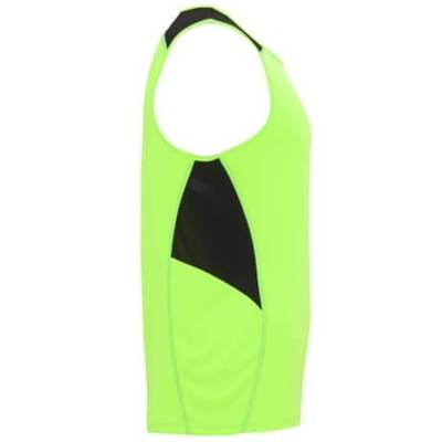 Camiseta Misano hombre 6682 Roly verde flúor-negro lado