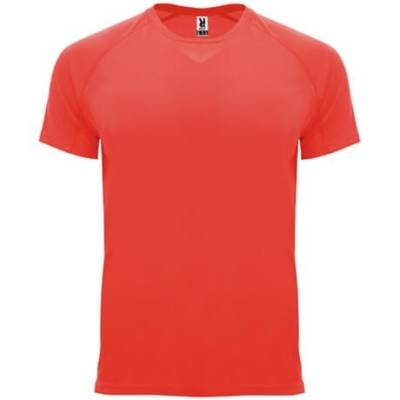 Camiseta técnica 0407 Bahrain Roly hombre y niño coral flúor