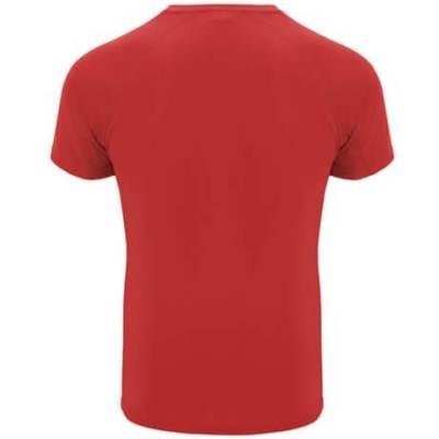 Camiseta técnica hombre y niño 0407 Bahrain Roly rojo espalda