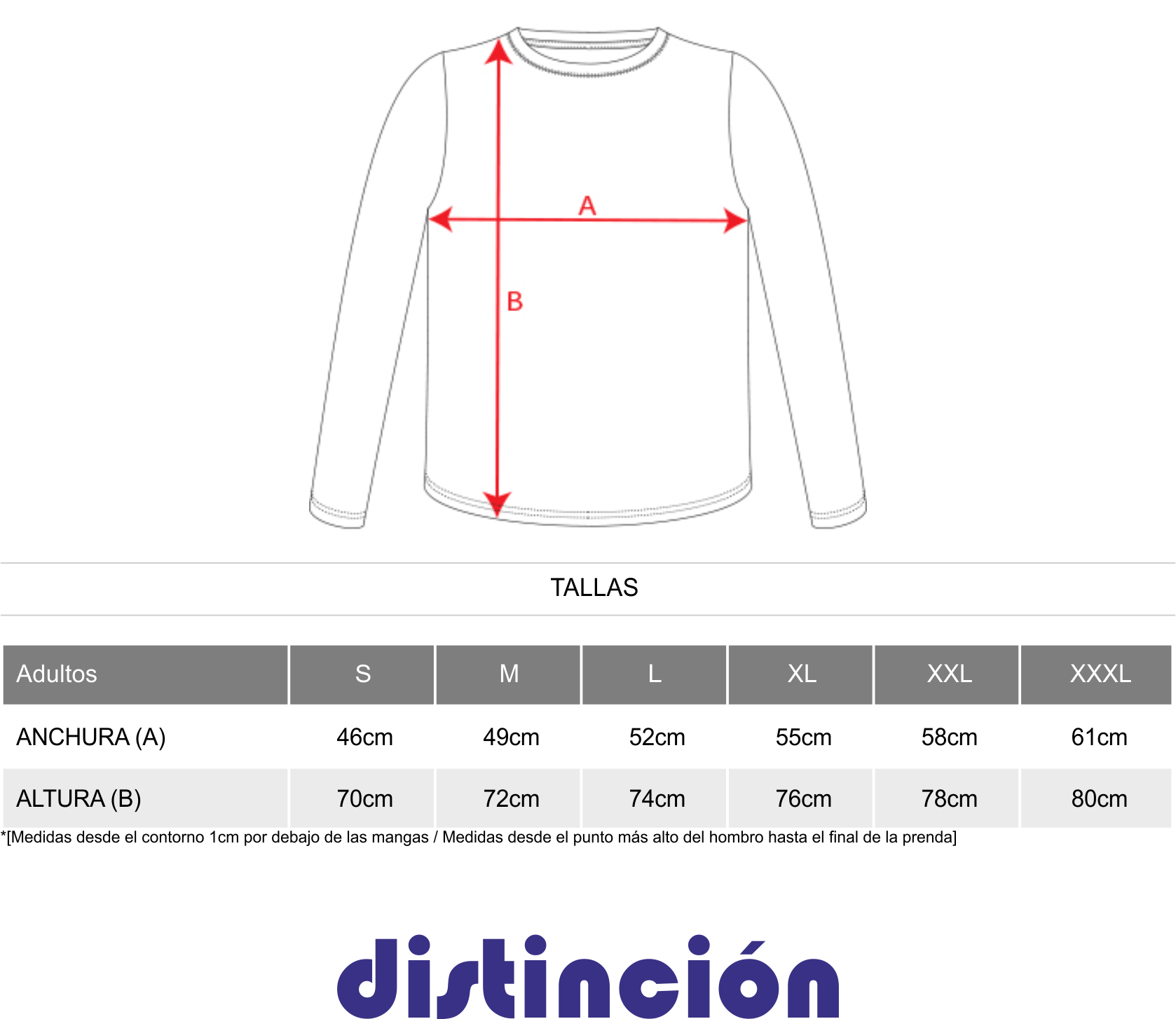 talla camiseta misano roly
